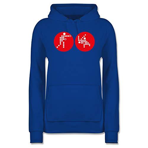 Kampfsport - Kampfsport - L - Royalblau - Karate - JH001F - Damen Hoodie und Kapuzenpullover für Frauen
