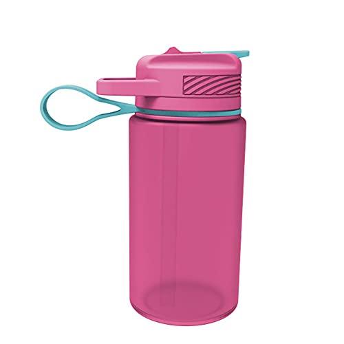 LXW Una Botella de Agua Plegable, la Mejor Botella de Agua para Deportes: 1 l de Flujo Grande y rápido, la Mejor Botella de Agua para Mantenerse hidratado Todo el día en la Pista y el Campo