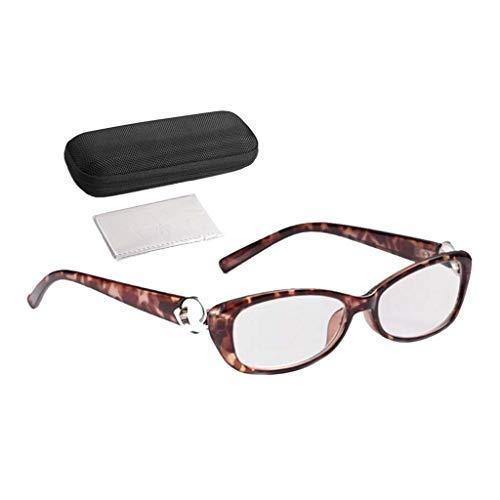 gafas de lectura Elegantes Fotograma Completo Prevención De Fatiga, Montura De Lente De Resina HD Diseño De Anillo De Metal Grado Opcional (+ 1.00— + 4.00)