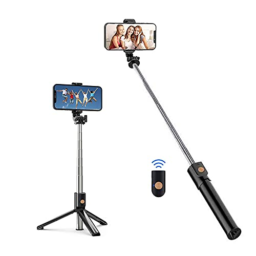 HISAYSY Selfie Stick Stativ, Bluetooth Selfie Stange Erweiterbar, Integrated Tripod Handyhalter Für IOS Und Android Phone/Samsung/Huawei Smartphones