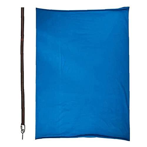 Tuimiyisou Swing Sensorial, Hamaca De Yoga De Nylon Ajustable De Swing De Niños con Correa De Extensión Azul-Azul