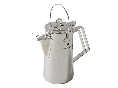 Snow Peak Men's Stainless Steel Upright Kettle, Stainless Steel, Silver, One Size