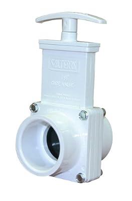 "Valterra 6101 PVC Gate Valve, White, 1-1/2"" Slip from Valterra Products"