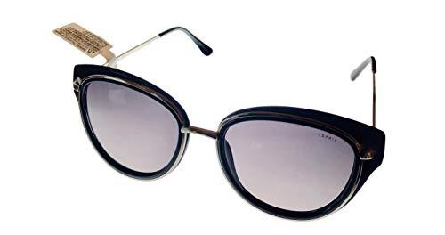 Esprit Womens Metal Plastic Black Cateye Sunglass ET39066 538