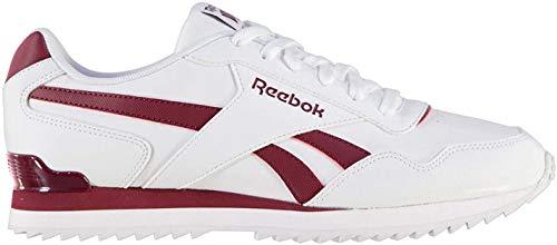 Reebok Herren Glide Rip Clip Turnschuhe Sportschuhe Sneaker Freizeit Schuhe White/Burgundy 7.5 (41)