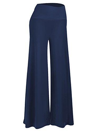 Arolina Women's Stretchy Wide Leg Palazzo Lounge Pants (Navy Blue,XXX-Large)