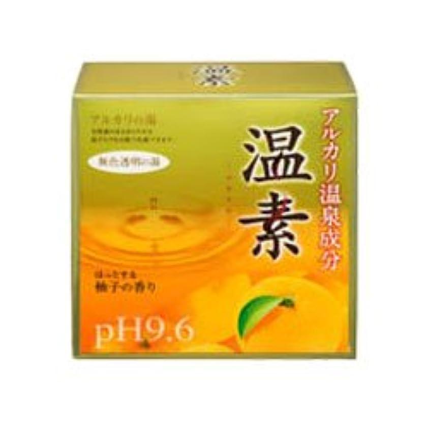 今晩白い育成【アース製薬】温素 柚子の香り 30g×15包 ×10個セット