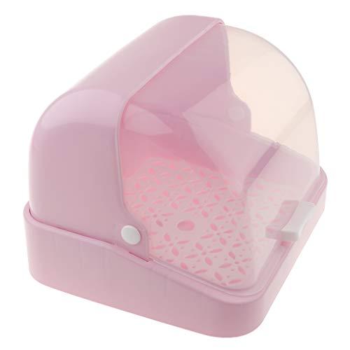 F Fityle 1 pc Contenedor de Chupetes para Vajilla de Bebés Organizador de Platos Cuencos - Rosa