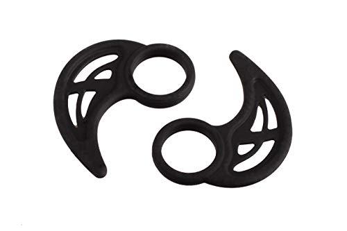 XCESSOR 3 Pares (6 Piezas) Ganchos para la Oreja universales de Silicona. Accesorio de Auriculares para Deportes. Compatible con los Auriculares intrauditivos más Populares. Negro