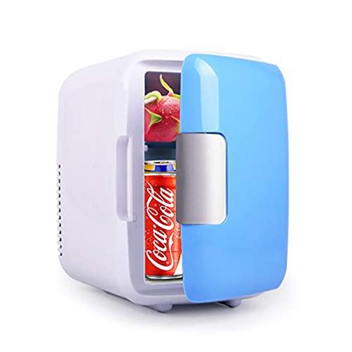 H.Slay SHKUU 4L Mini refrigerador, cosméticos de Belleza, refrigerador Personal portátil para automóvil, refrigerador de Maquillaje de Doble Uso para el hogar, habitación, automóvil, Color Blanco