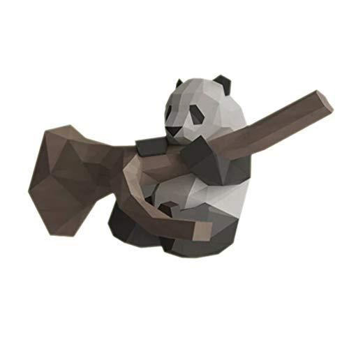 NUOBESTY Origami Panda en árbol Papercraft Diy 3D modelo Geometrische Gefaltetes papel modelo para Diy decoración casa (tarjeta de papel), color Imagen 1. 35 * 35 cm