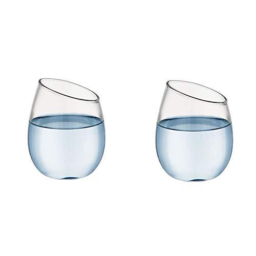 ChuckSss Vasos de Agua Adecuado para Whisky, Jugo, Vino, etc. Collection Uso en Casa, Restaurante y en Fiestas. 400 ml / 13.5 onzas, Apto para Microondas y Lavavajillas (Style B)