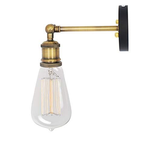 NetBoat Wandlampe Wandleuchte Industrie Vintage Lampe,E27 Sockel Für Haus, Bar, Restaurants, Café, Club Dekoration(Keine Glühbirne)