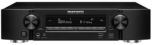 Marantz NR1609 7.2 Channel AV Receiver Black, Compatible with Alexa