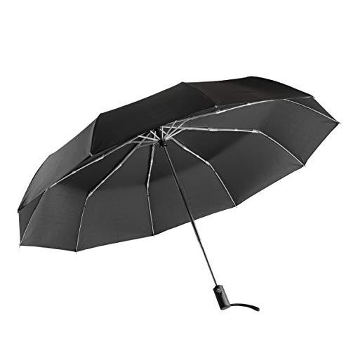 【BLKP】 パール金属 大きい 折りたたみ 傘 ワンタッチ 自動開閉 130cm テフロン 撥水加工 丈夫な 10本骨 限定 ブラック BLKP 黒 N-7544