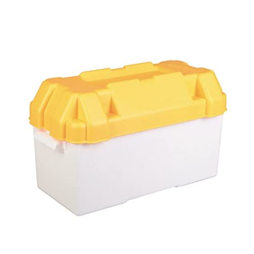 Riddiough - Contenitore per batteria da 110 A, grande, colore: bianco e giallo