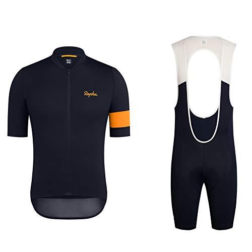 Quick Drying Cycling Jersey Men Clothing Mountain Bike Shorts MTB Racing Gear Team Jersey Casual Riding Kits Suit (XL)