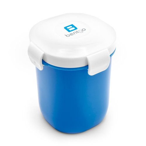Bentgo Cup, Auslaufsicherer Becher mit 350 ml Fassungsvermögen | Dressingbehälter (Blau)