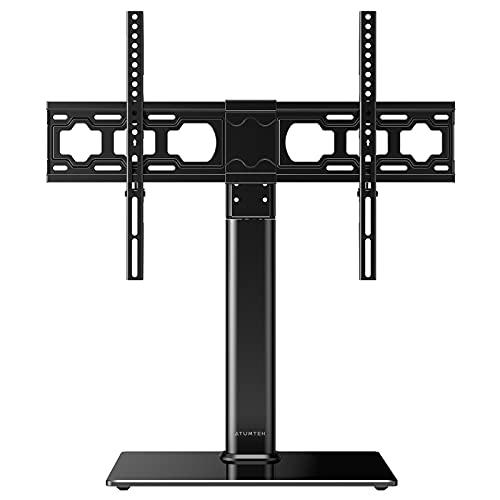 ATUMTEK Soporte Giratiorio de TV de 37 a 65 Pulgadas Altura Ajustable Soporte de Mesa para Televisión LCD LED OLED Plasma Plano Curvo de hasta 40 kg, máx. VESA 600x400 mm