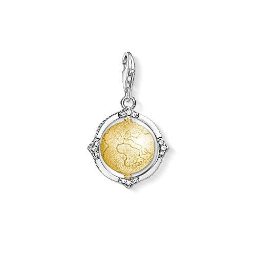 Thomas Sabo Unisex Charm-Anhänger Vintage Weltkugel 925 Sterling Silber 1711-849-39