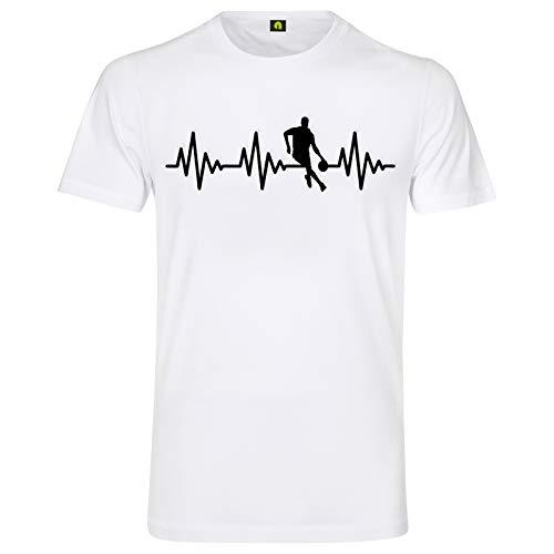 Herzschlag Basketball T-Shirt | Sport | NBA | Jordan | Stadion | Fun | Fan Weiss M