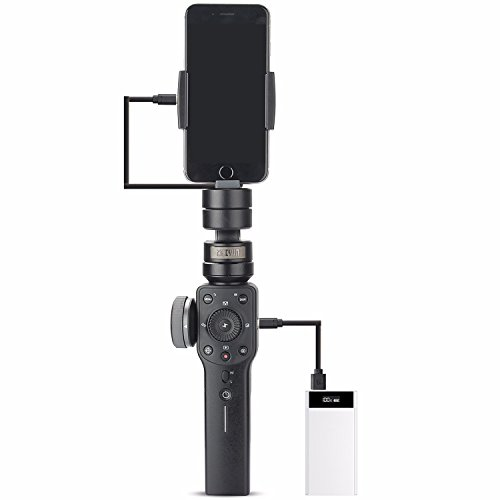 Zhiyun Smooth 4 3-Axis Handheld Gimbal Stabilizer YouTube Video Vlog Tripod for iPhone 11 Pro Xs Max Xr X 8 Plus 7 6 SE Android Cell Phone Smartphone