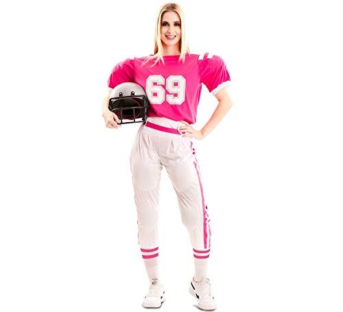 EUROCARNAVALES Disfraz de Jugadora de Fútbol Americano para Mujer
