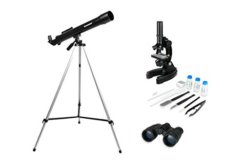 Celestron International Telescope Microscope & Binocular Science Kit, CSN22010