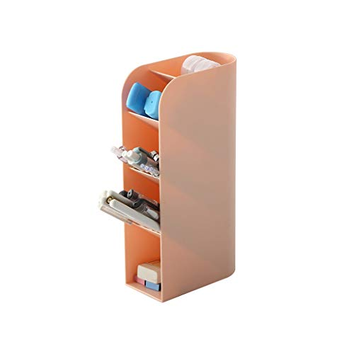 JSY - Caja de Almacenamiento Multifuncional de Escritorio para brochas de Maquillaje, Organizador de papelería para Estudiantes, de plástico, para Guardar bolígrafos, cosméticos C