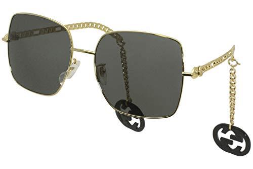 Gucci Occhiali da Sole GG0724S GOLD/GREY 61/18/135 donna