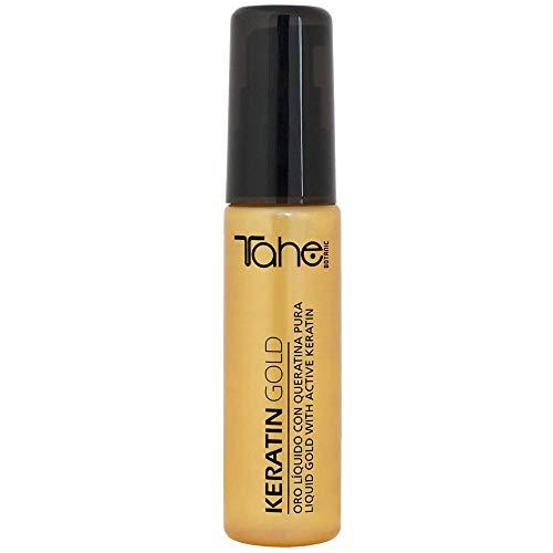 Tahe Keratin Gold Oro líquido con Queratina Pura, Células Madre Vegetales Activas y Aceite de Argán, 30 ml