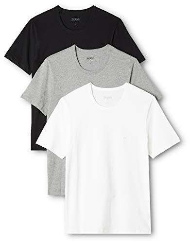 BOSS Herren RN 3P CO T-shirt, 3er Pack, Mehrfarbig 999, Large