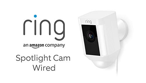 Ring Spotlight Cam Wired by Amazon | HD Security Camera with LED Spotlight,...