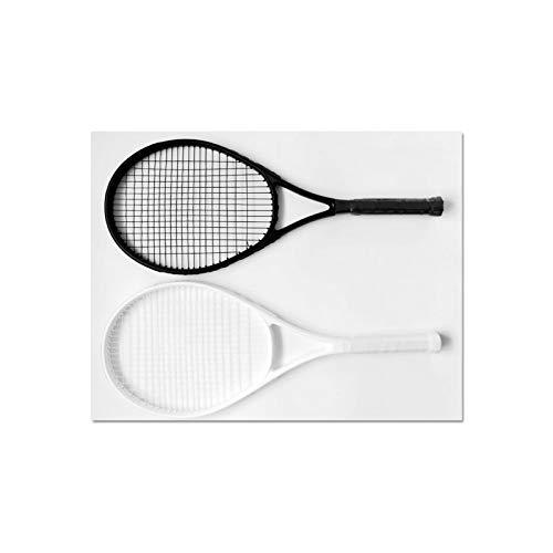 Mikelabo - Raqueta de tenis de césped (27 unidades), color negro