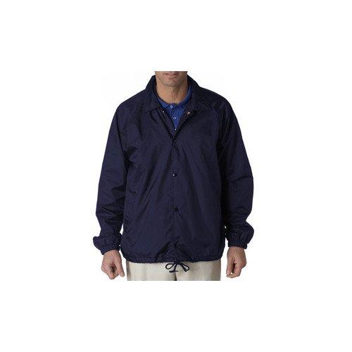 UltraClub mens Nylon Coaches' Jacket(8944)-NAVY-L
