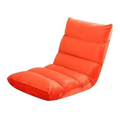 YULAN Ajuste de Cinco velocidades sin Patas Silla Plegable Bahía Ventana sofá cojín 110 * 53 * 14cm (Color : Orange)