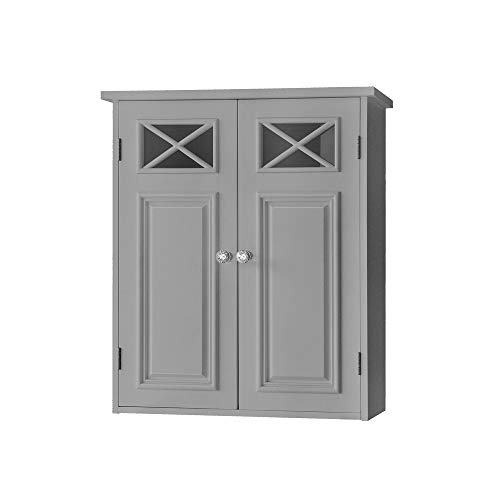 Elegant Home Fashions Dawson Wall Cabinet, Grey