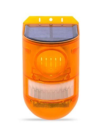 Sensor De Movimiento De Alarma De Luz Y Sonido Solar 110 Decibelios Sirena Alerta De Sonido Y 6 LED Flash De Advertencia Sistema De Alarma De Seguridad Estroboscópica Para Huerto
