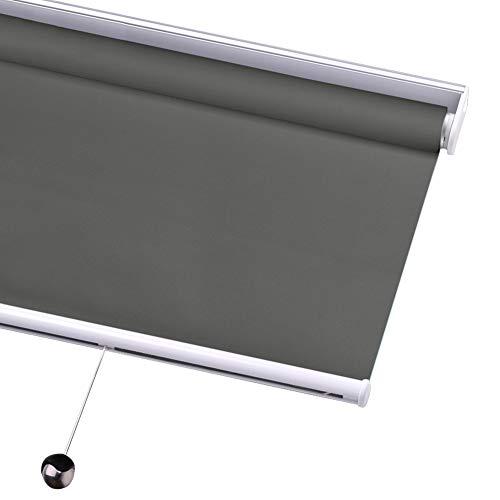 WUFENG-Thermo Rollo Verdunklungsrollo Sonnencreme Wasserdicht Blackout Frühling Rollos zum Fenster, Privacy Shade Wärmeisoliert Raumverdunkelung, Angepasst (Color : A, Size : 80cmx90cm)