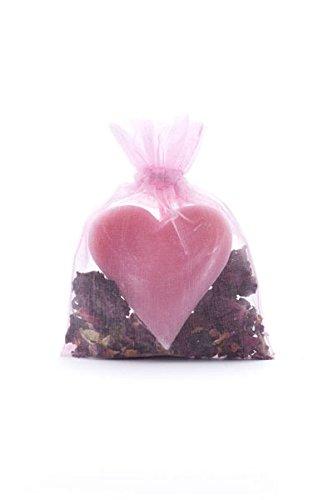 Haslinger 2848 pétales de roses Parfum Sac Savon de cœur avec fleur