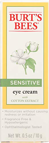 Burt's Bees Natürlich Augencreme für empfindliche Haut mit Baumwollextrakt, 1er Pack 14,1 g