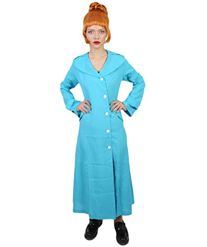 HPO Adult Women's Animated Rookie Agent Anti Villains Costume - Aqua Blue Color (X-Large)