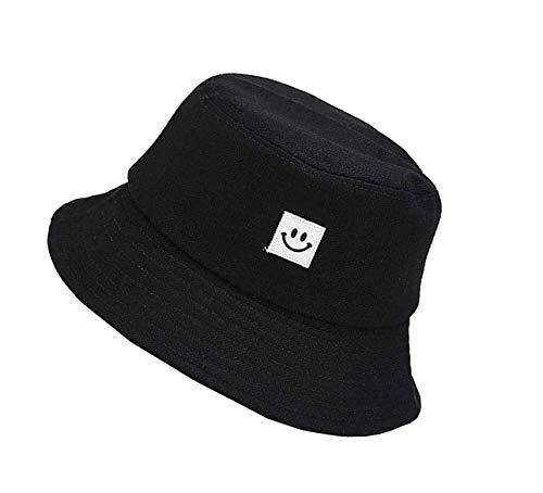 Cappello da Pesca Smiley,Cappello da Pescatore Unisex Cappello Pescatore per uomo Donna Campeggio per esterni Escursionismo Pesca-Nero