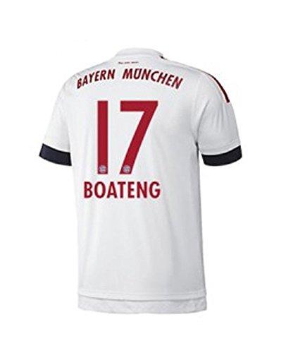 FC Bayern Away Trikot Kinder 2016 - BOATENG 17, Größe:128