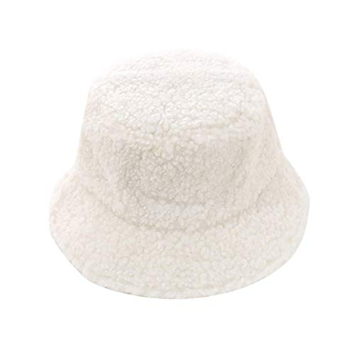 Preisvergleich Produktbild YUHEYUN Mode Winter Eimer Hut,  Mädchen solide verdickte weiche warme Angelhut,  Outdoor Urlaubshut,  weiß,  a