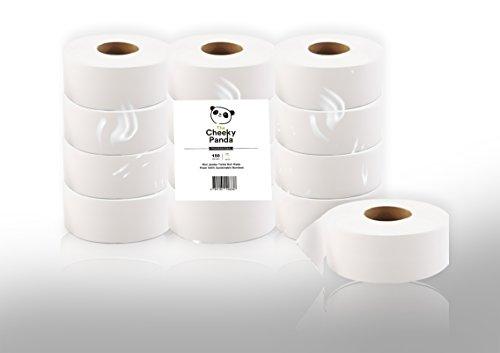 The Cheeky Panda Mini Jumbo Toilettenpapier für Spender, 100% Bambus, sehr nachhaltig, 2-lagig, 150 m x 7,6 cm, 12 Stück