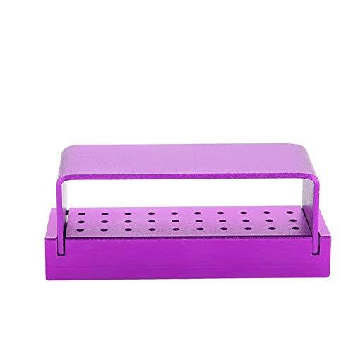 Burs dezynfekcja pudełko, 30 otworów aluminiowa dezynfekcja pudełko bur blok uchwyt wiertła wywiery dezynfekcja etui organizer narzędzia do pielęgnacji autoklawowania 6 kolorów (5 #)