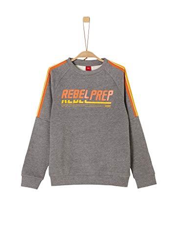 s.Oliver Jungen 62.909.41.2555 Sweatshirt, Grau (Dark Grey Melange 9730), 164 (Herstellergröße: L/REG)
