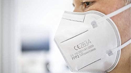 Simplecase FFP2 Maske, Atemschutzmaske, Partikelfiltermaske, EU CE Zertifiziert von Offiziell benannter Stelle CE2834 – 40 Stück, WEIß MS-2004-20212 - 9