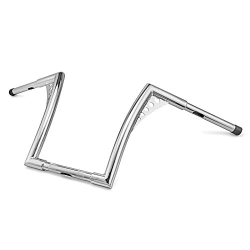 Dasen Chrome Ape Hangers Handlebar 12' Rise 1 1/4' Handle Bars Compatible with Harley Davidson Sportster Softail Dyna Touring Road Glide & King Models